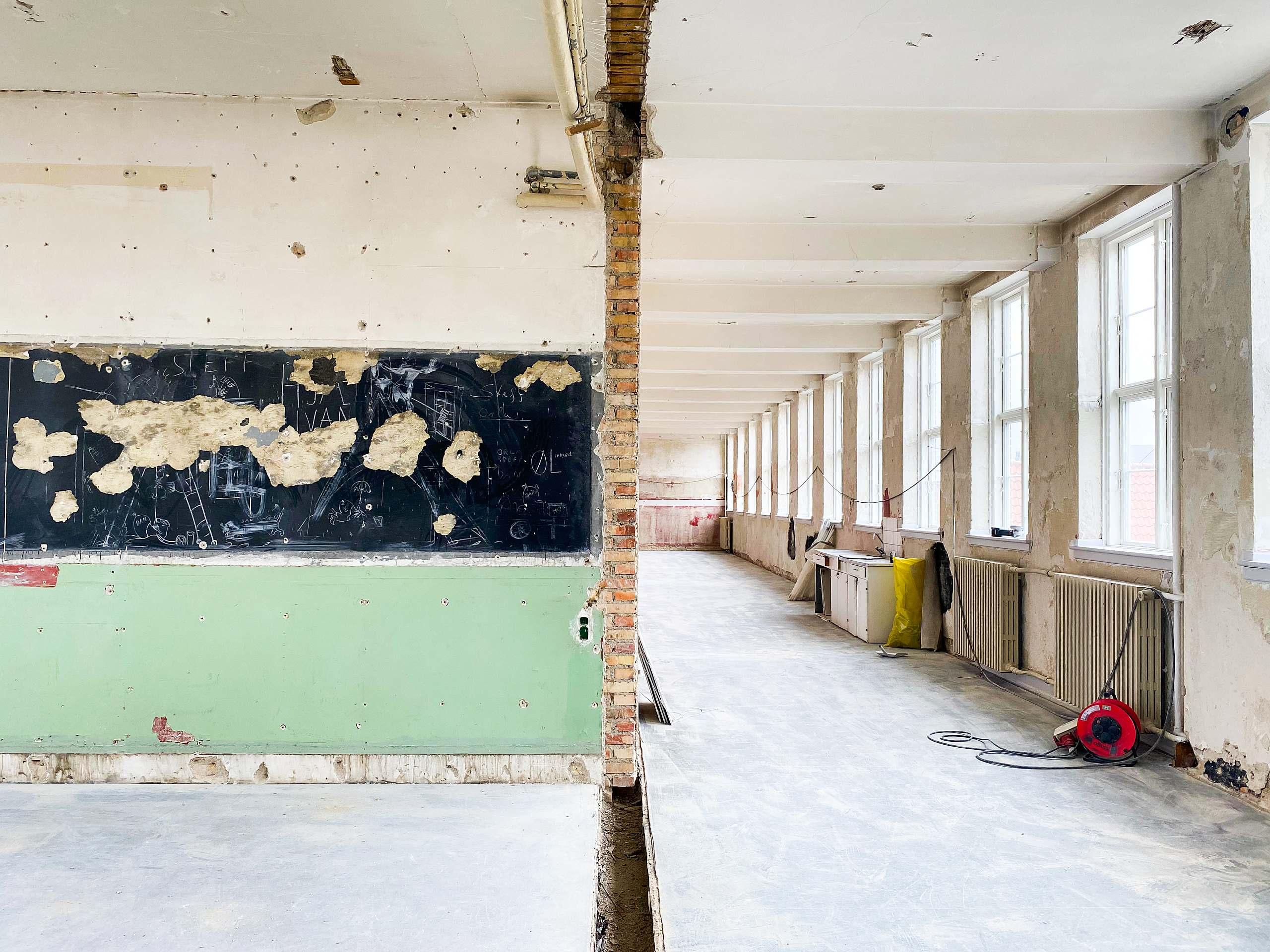 Gråbrødre Skole under renovering