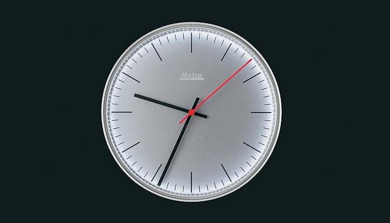 Metro clock - 26 minutes in