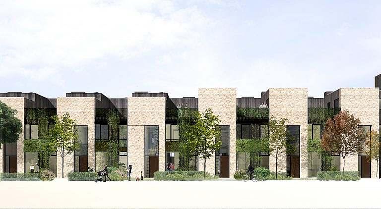 Dolomithusene facade