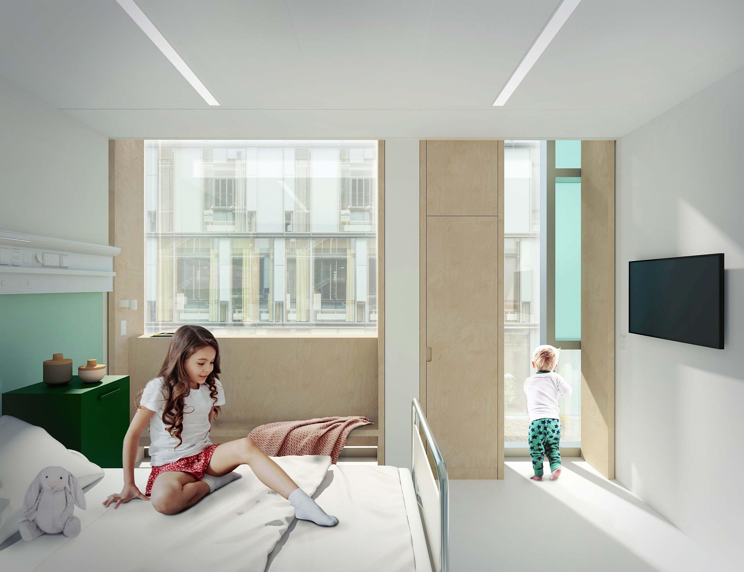 Glasbausteine Kinder- und Jugendkrankenhaus